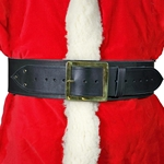 Santa Claus Belt 4 in. Wide Leather Square Buckle