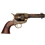 M1873 Single-Action Army Revolver Gold Engraved Non Firing Replica,M1873 Single-Action Army Revolver Gold Engraved Non Firing FD1280L