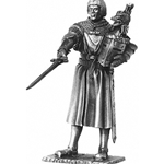 Sir Lancelot and Chair Pewter Sculpture
