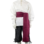 Large Cotton Canvas Pirate Sash - Burgundy