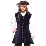 Navy Velvet Pirate's Vest