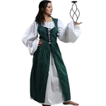 Ladies Peasant Dress in Green