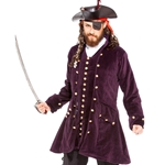 Burgundy Velvet Pirate's Coat