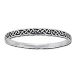 Silver Celtic Knot Bangle