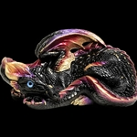 Mother Dragon Sculpture Black Gold 501-BG
