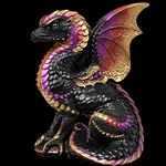 Spectral Dragon Sculpture Black Gold
