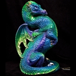 Emperor Dragon Sculpture Emerald Peacock 520-EP