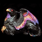 Female Griffin Sculpture Black Sunset