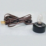 Electric Votive Lamp Brown Cord WE-E