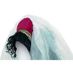 Twill Medieval Headpiece with Veil Y-200T