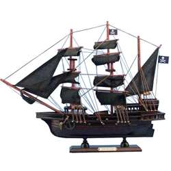 Captain Kidd's Adventure Galley Wooden Model Pirate Ship - 20 inches