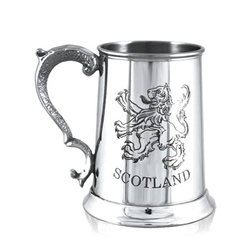 Scotland Lion Pewter Tankard One Pint
