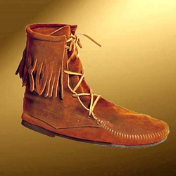 Mens Low Suede Boot With Fringe
