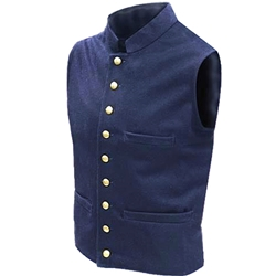 Union Civil War Vest - Blue Wool