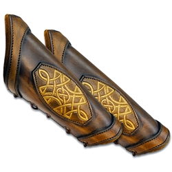Leather LARP Celtic Padded Arm Bracer