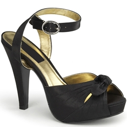 Satin Bettie Platform Sandals