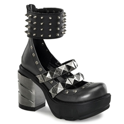 Sinister Spiked Mary Jane Platform Shoes