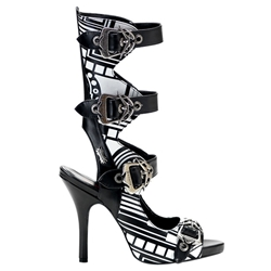 Zombie Cyber Print Buckle Sandals