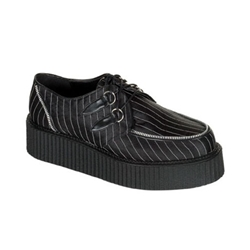 Creeper Pinstriped Platform Shoes