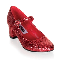 Ruby Glitter Mary Janes
