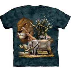 African Collage Adult T-Shirt 43-1030620