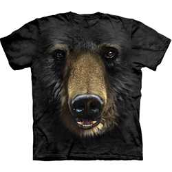 Black Bear Face Adult Plus Size T-Shirt 43-1032450