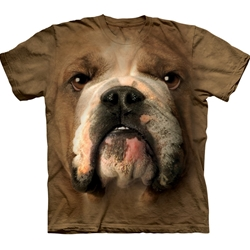 Bulldog Face Adult T-Shirt 43-1032540