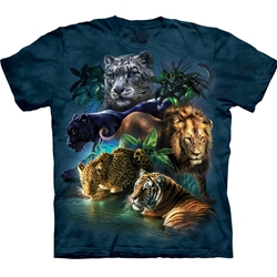 Big Cats Jungle Adult 2X-Large T-Shirt 43-1033150