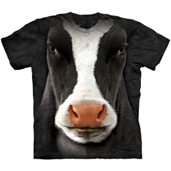 Black Cow Face Adult T-Shirt 43-1033470