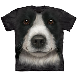 Border Collie Face Adult 3X-Large T-Shirt