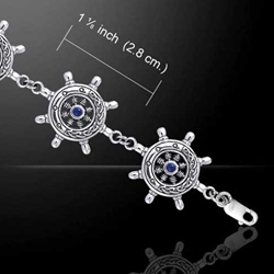 Celtic Ship's Wheel Silver Bracelet 52-TBL019