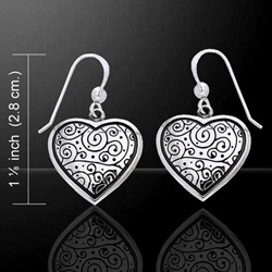 Cari Buziak Celtic Silver Spiral Earrings 52-TER242