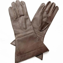 Leather Riding Gauntlets Brown
