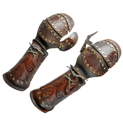 Leather Viking Gauntlets