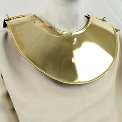 Brass Gladiator Collar - 18 Gauge ,Gladiator Gorget Brass AH-6222-B