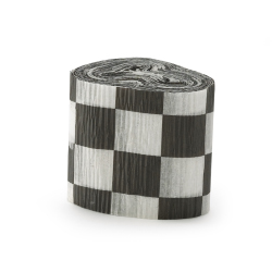 Black and White Checkered Crepe Paper 101-138535