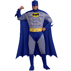 Batman Brave & Bold Deluxe Muscle Chest Adult Plus Costume  100-180105