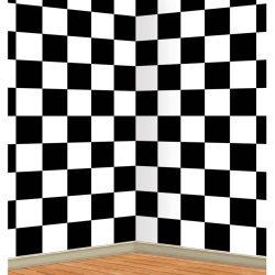 Black and White Checkered Backdrop 101-201944