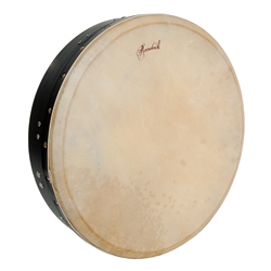 Black Tunable Mulberry Bodhran T-Bar 16 x 3.5 in - Roosebeck