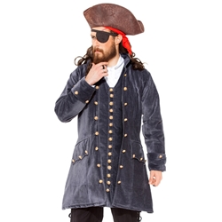 Plus Size Captain Pirate Coat