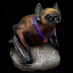 Brown Vampire Bat Sculpture