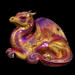 Old Warrior Dragon Sculpture Violet Flame